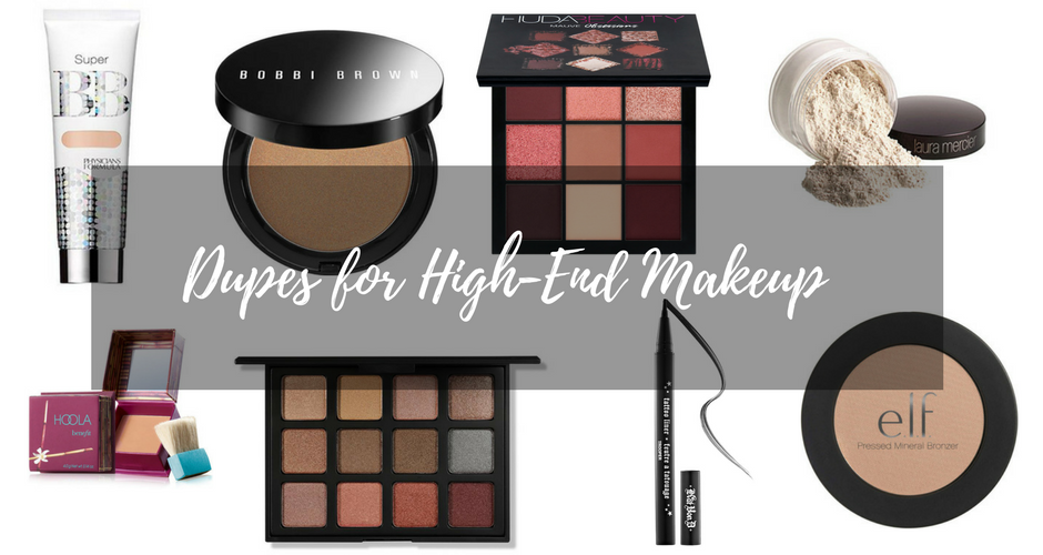 Dupes for High End Makeup graphic