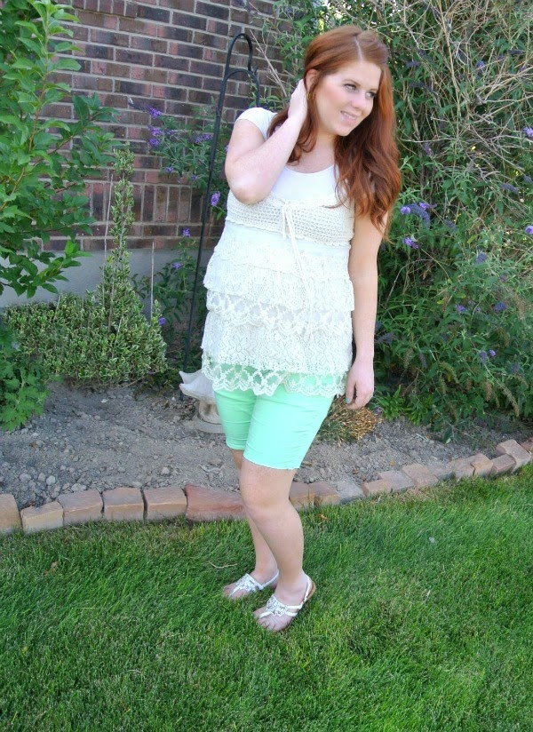 Green and lace