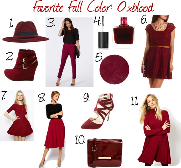 Favorite Fall Color: Oxblood