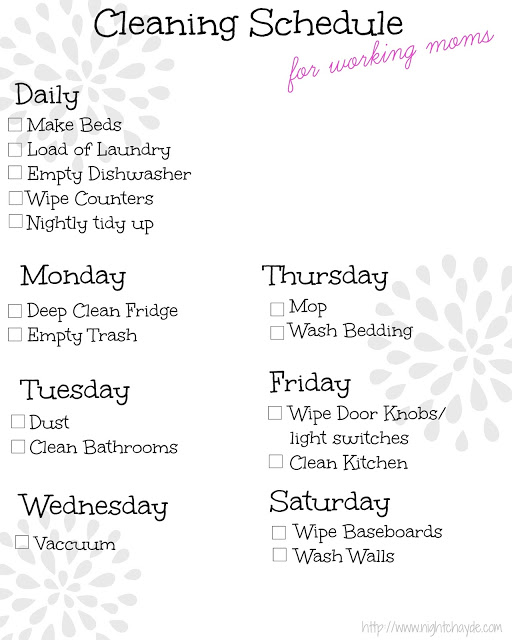 Cleaning Tips for Working Moms.