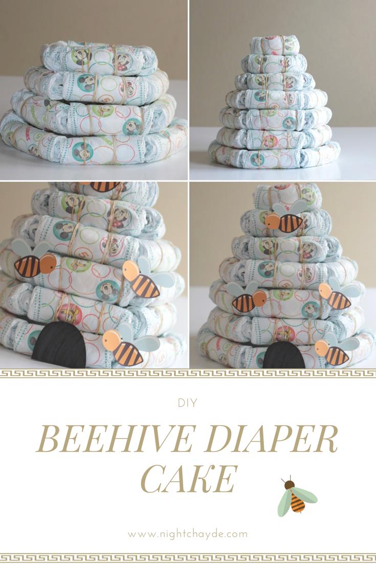 Beehive diaper cake