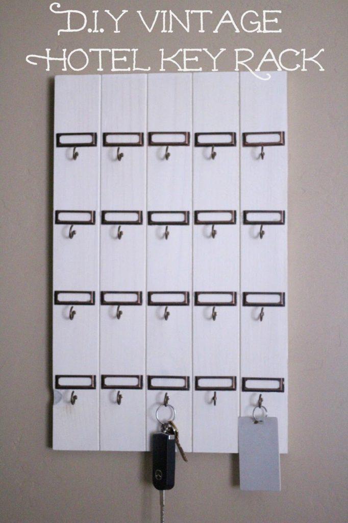 DIY vintage inspired key rack