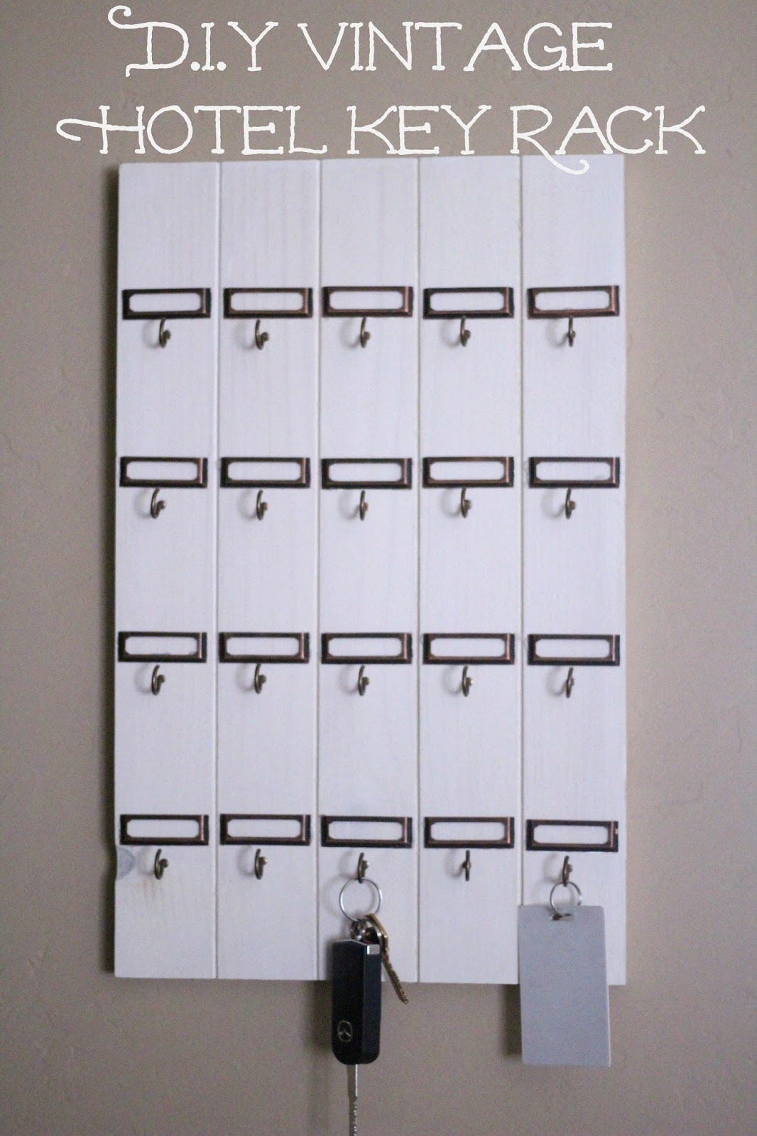 Diy Vintage Inspired Key Rack Nightchayde