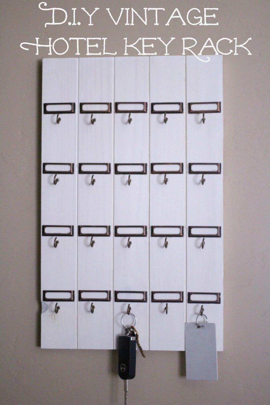 DIY vintage inspired key rack graphic