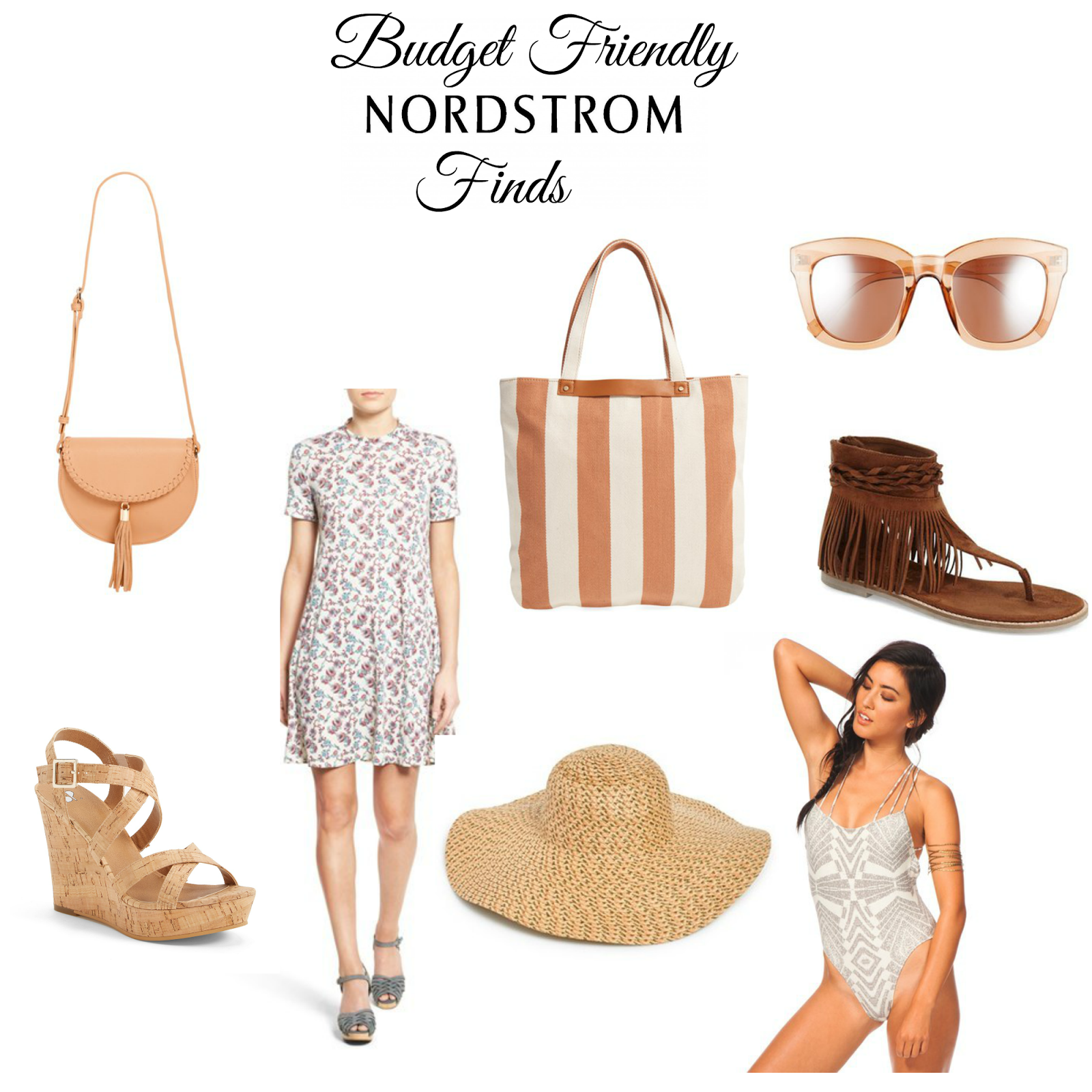 Nordstrom on a budget. graphic