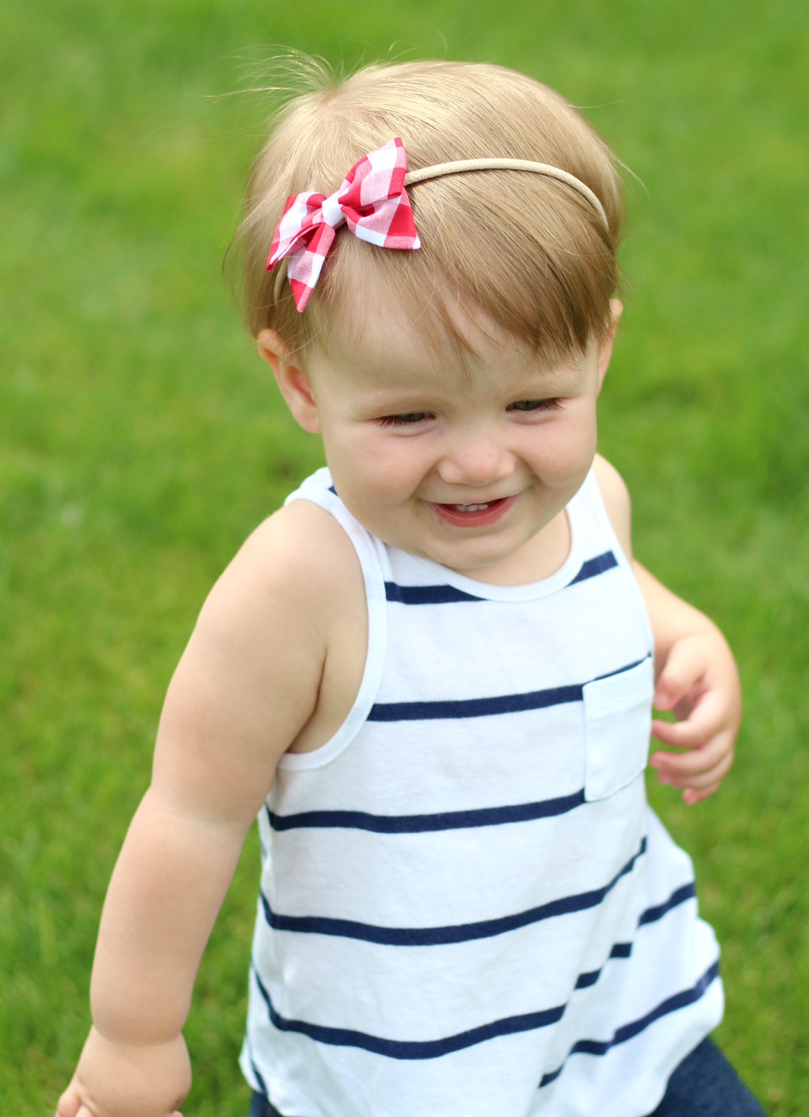Red Gingham Bow ft La Belle Baby graphic