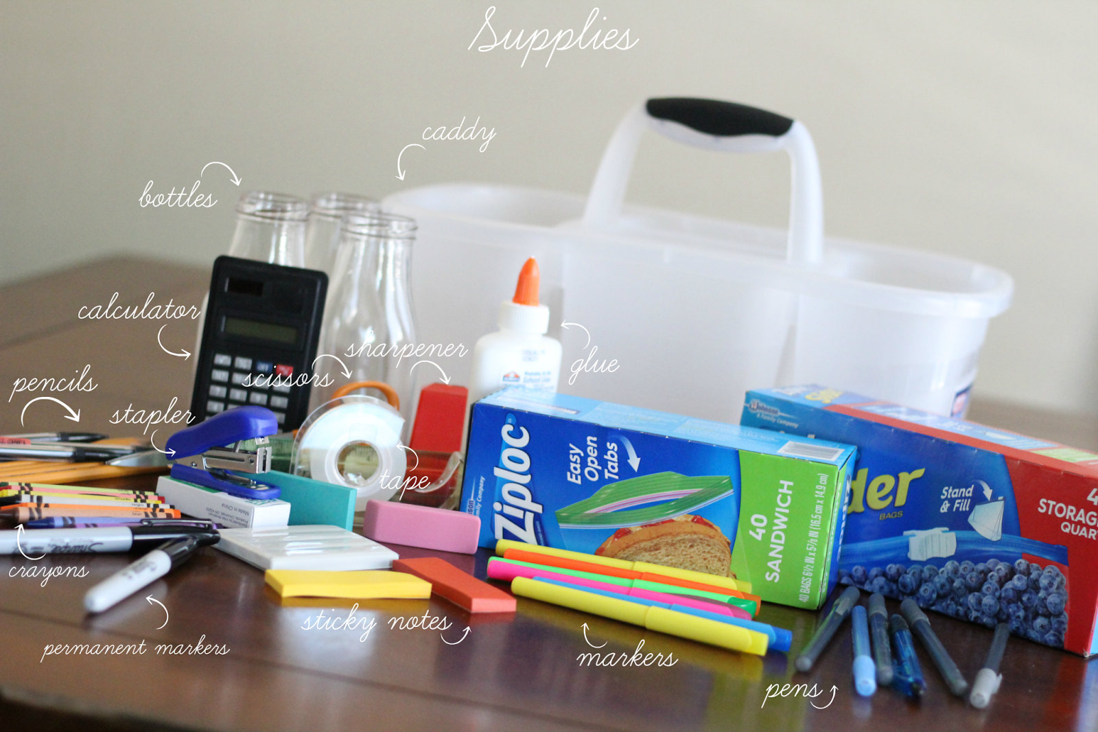 DIY Homework Caddy graphic