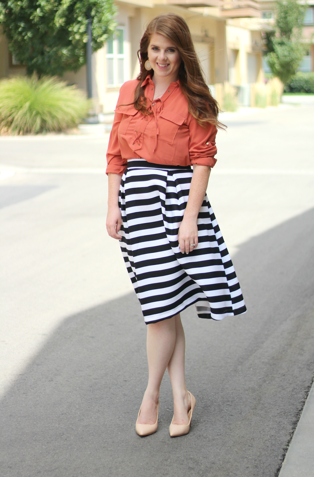 Striped Skirt graphic