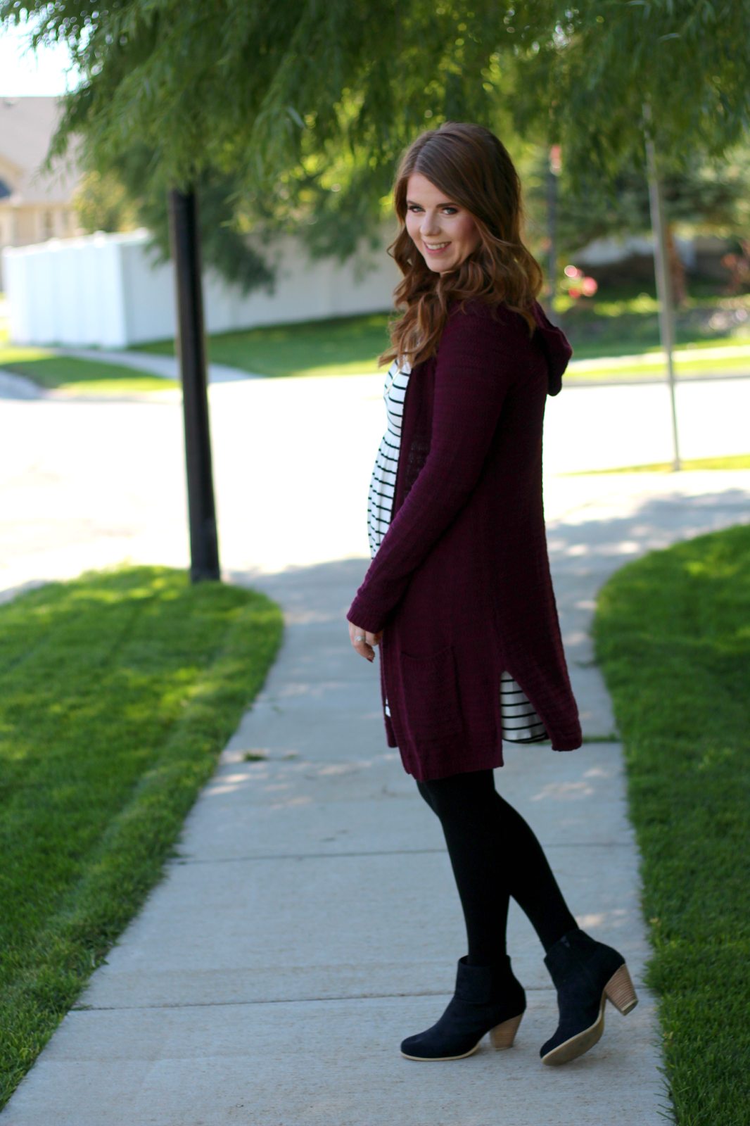 One Dress Three Ways: Stripes and a Cardigan graphic