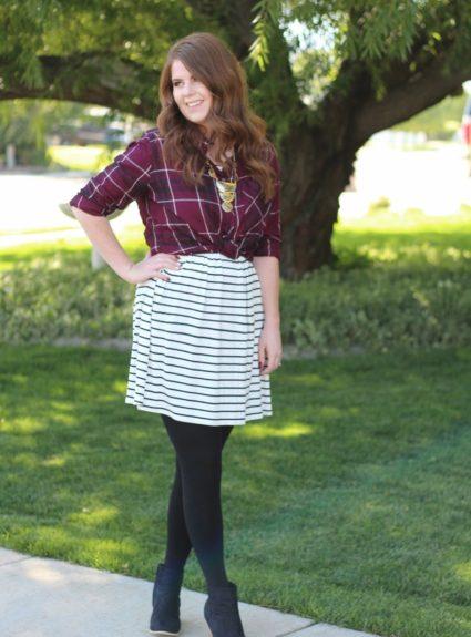 One Dress Three Ways: Stripes and Plaid