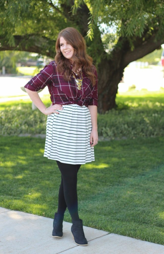 One Dress Three Ways: Stripes and Plaid