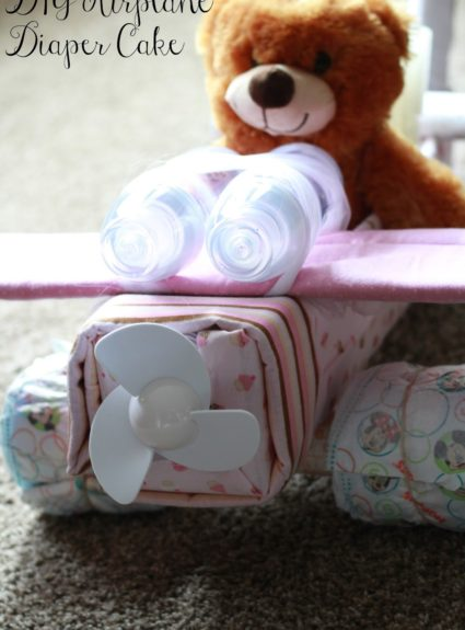 DIY Airplane Diaper Cake