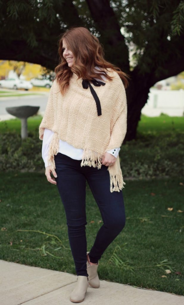 poncho outfit idea