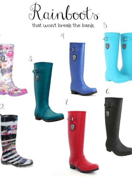 Rain boots that wont break the bank.