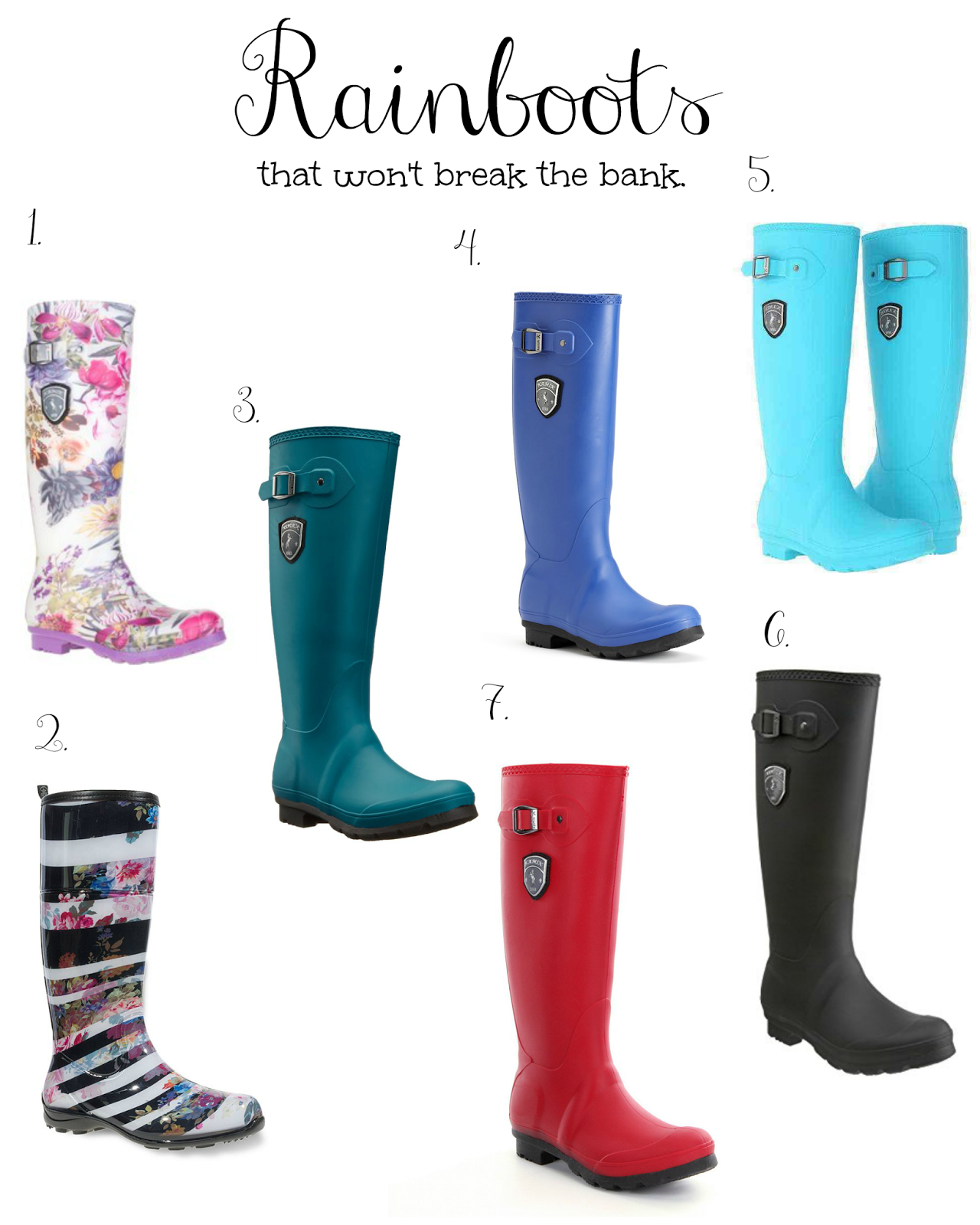 Rain boots that wont break the bank. graphic