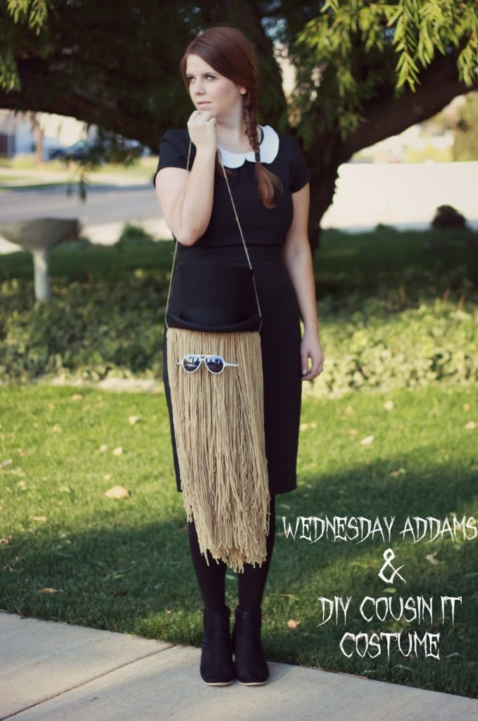 DIY Wednesday Addam and Cousin It Costume