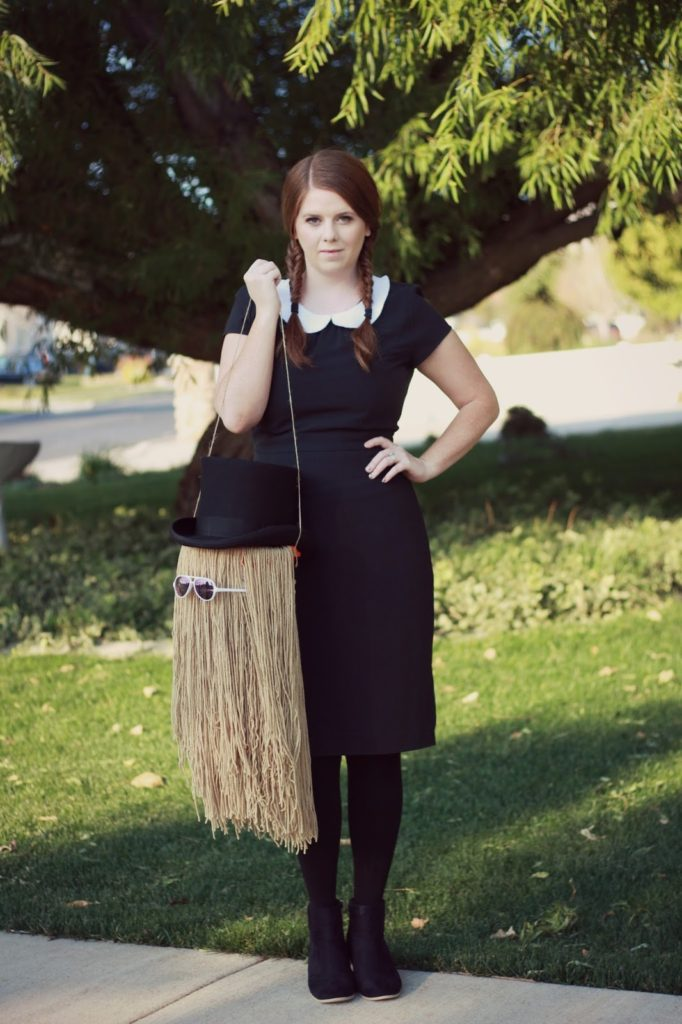 DIY Halloween Costume: Wednesday Addams and Cousin It ...