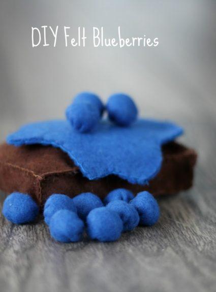 DIY Felt Blueberries