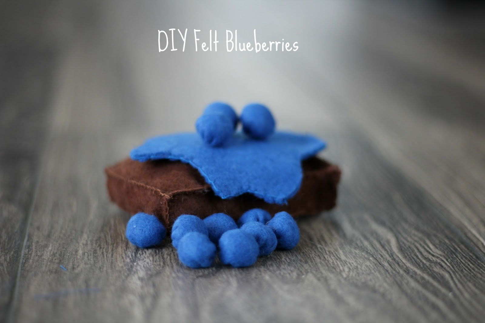 DIY Felt Blueberries graphic
