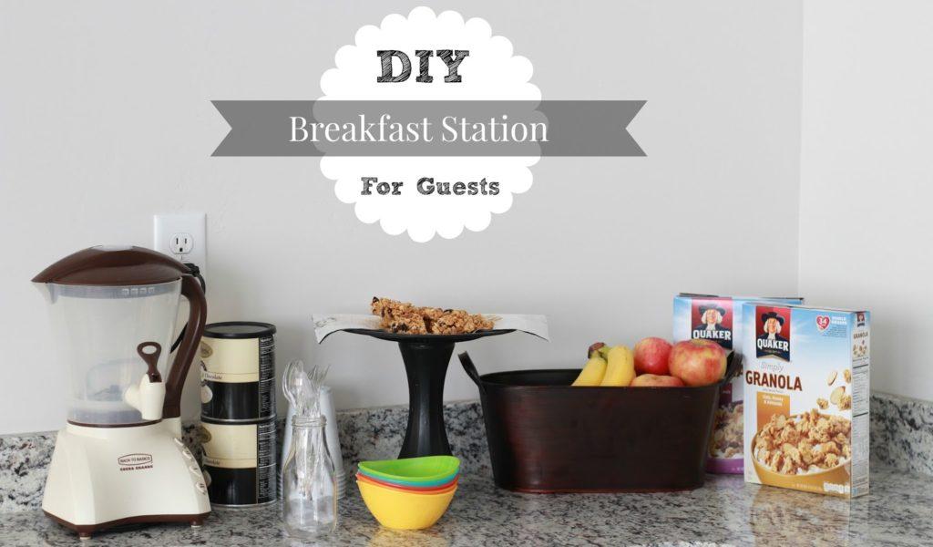 DIY Breakfast Station for Guests+ Easy Granola Breakfast Bar Recipe