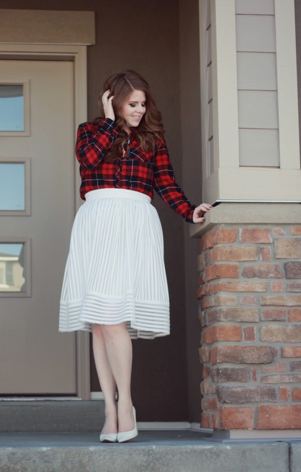 White, Plaid, and Elegant. graphic