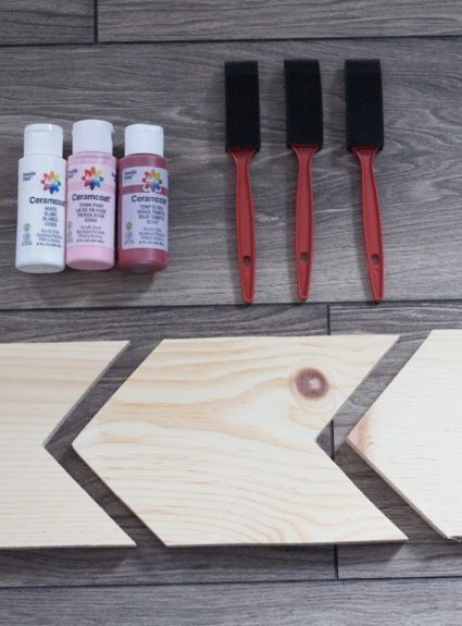 DIY Ombre Chevron Arrows