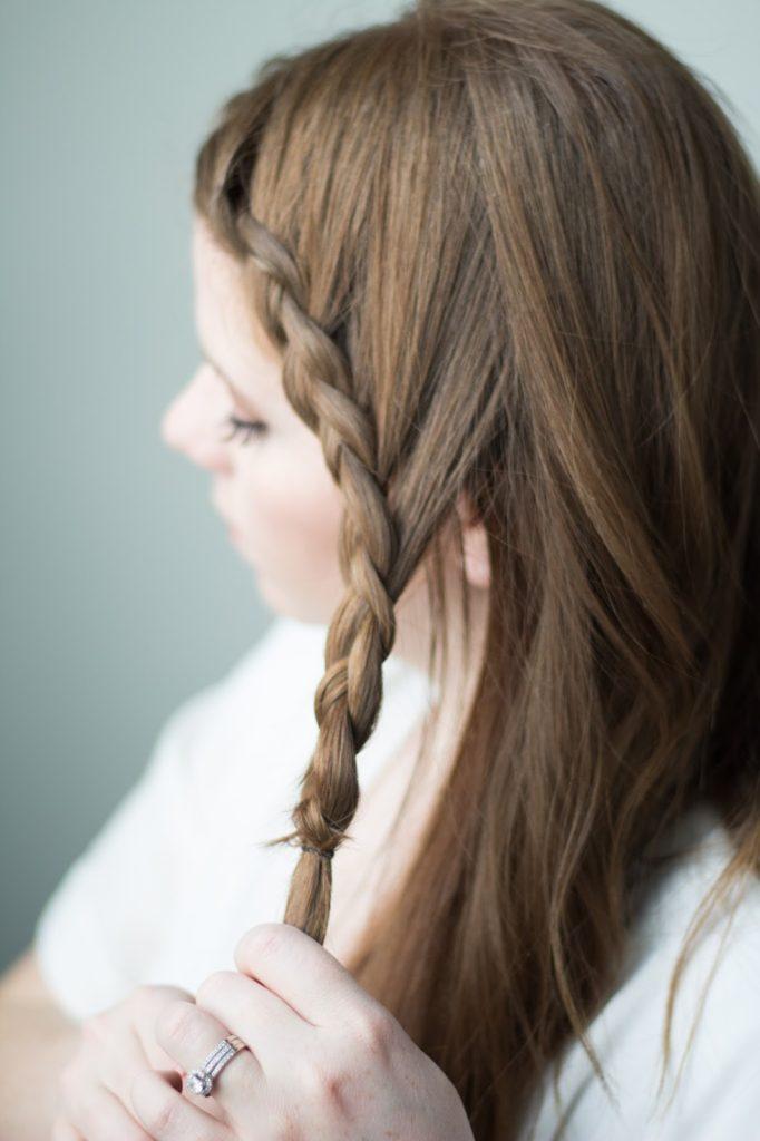 Valentines Day Hair: Braided Side Bun