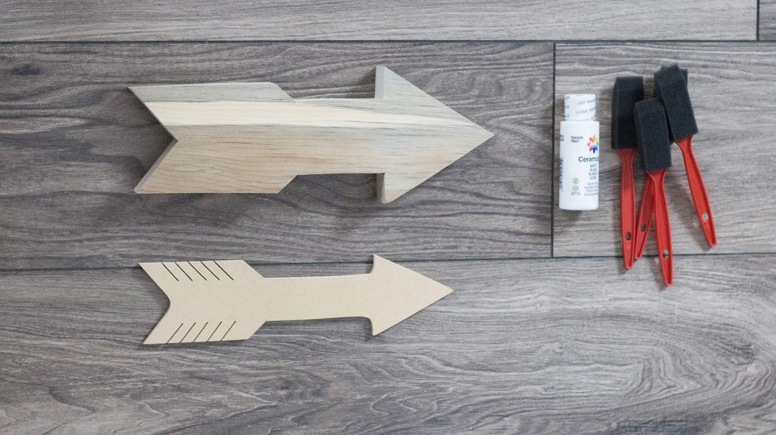 Easiest DIY Farmhouse inspired Wooden Arrow graphic