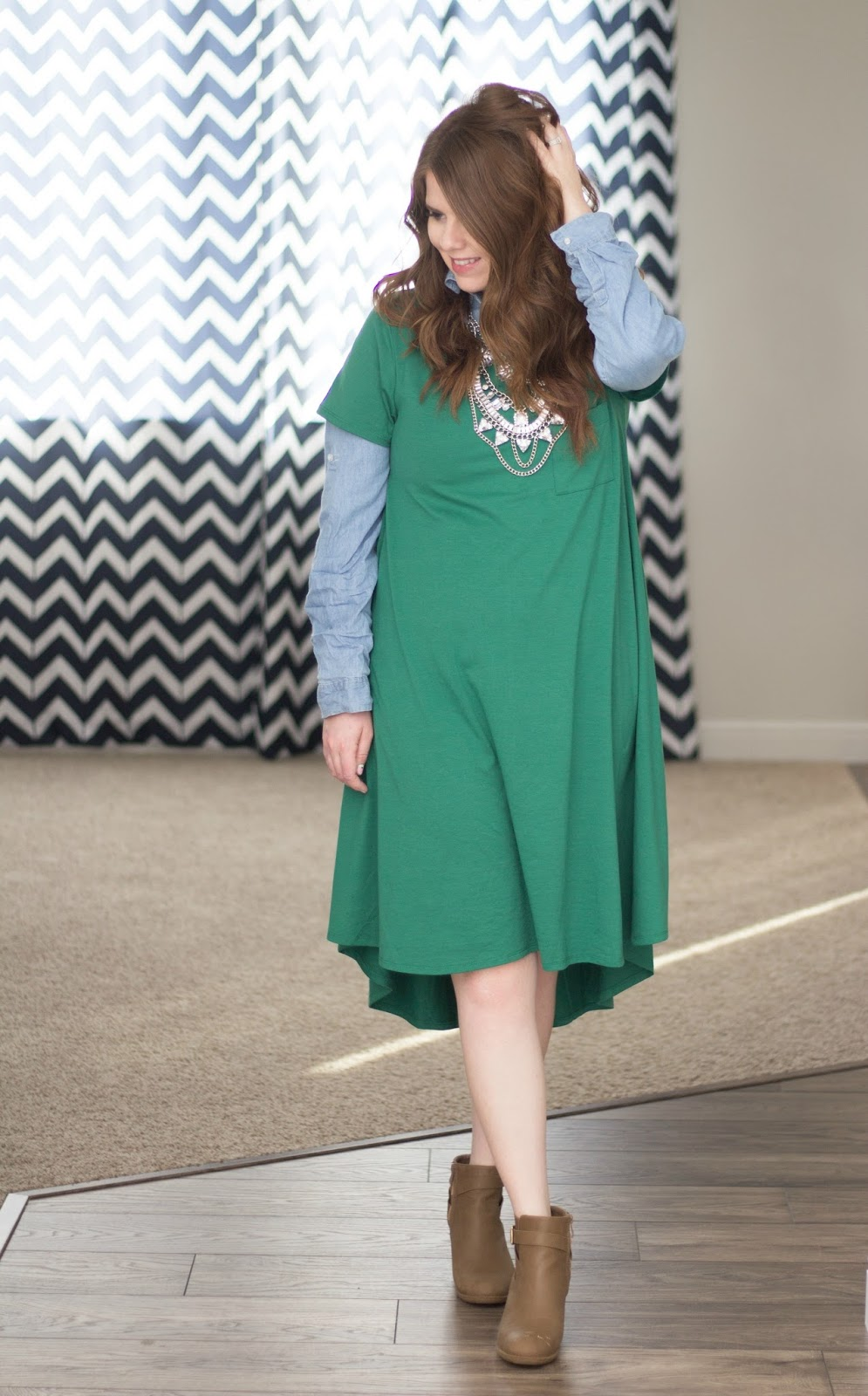 Layered Lularoe Carly graphic