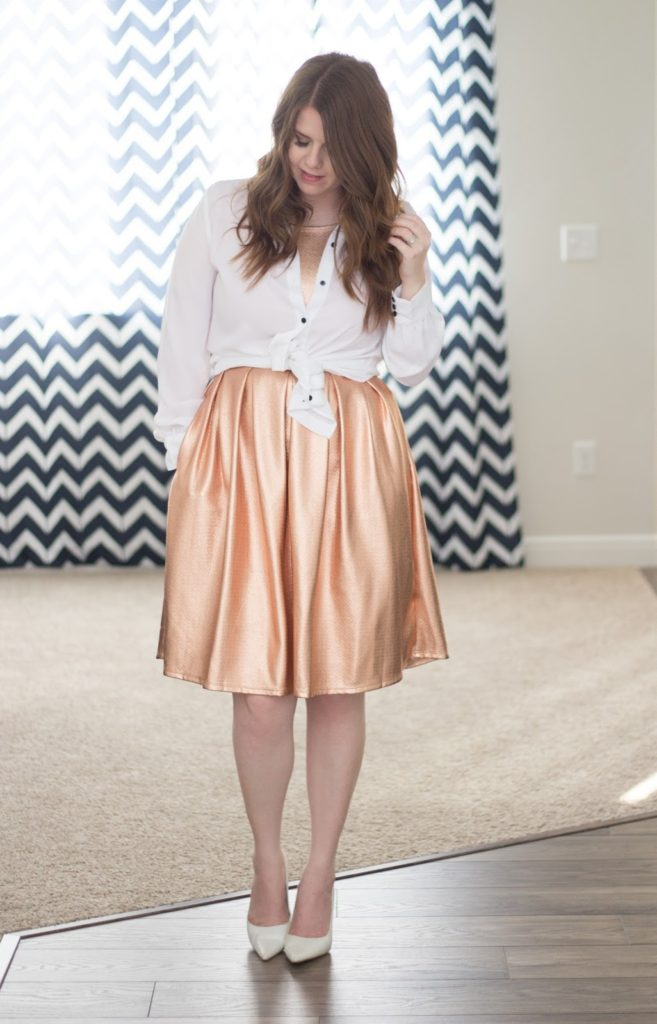 rose gold skirt