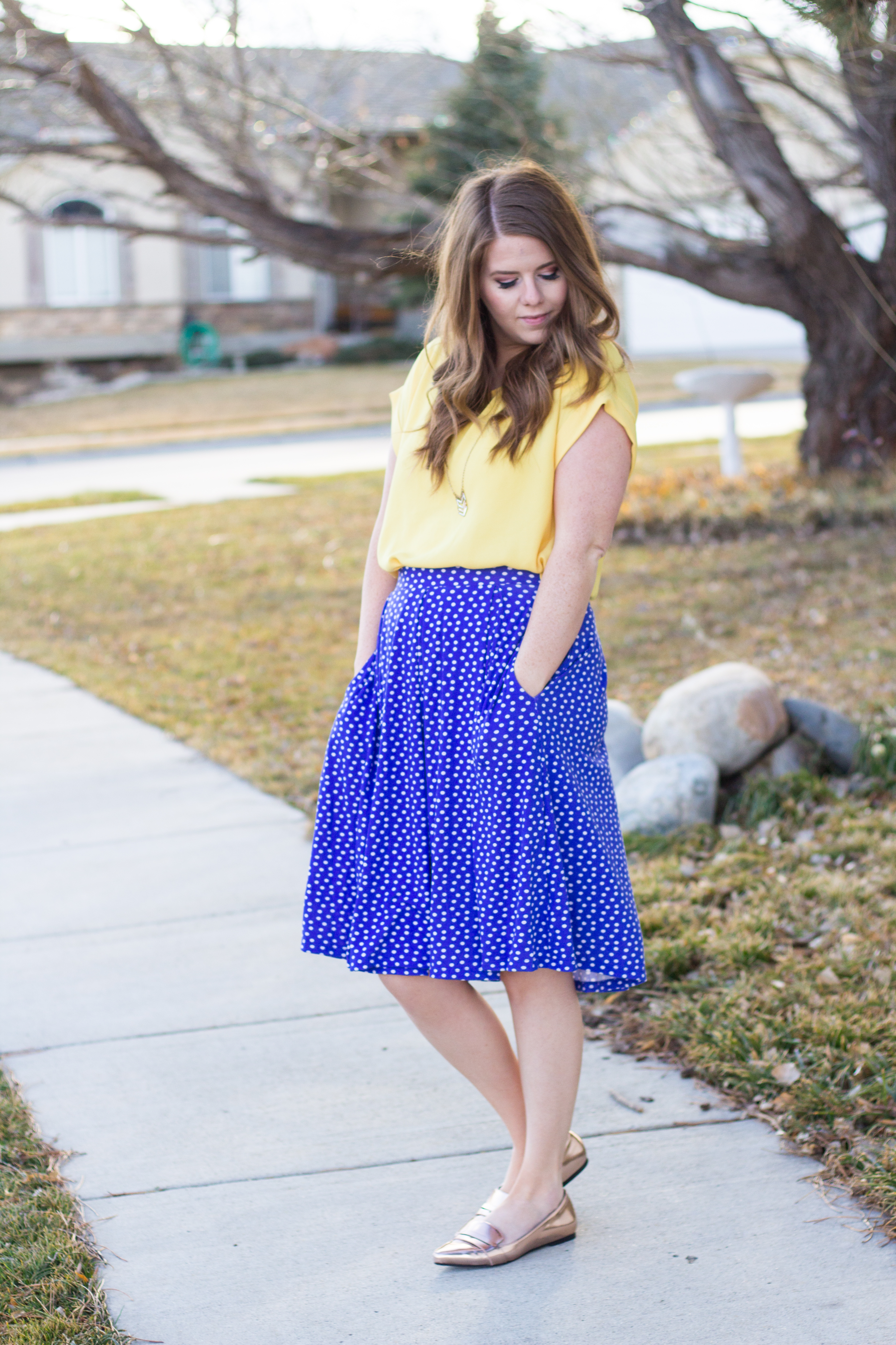 Polka Dots and Yellow graphic