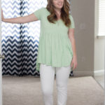 light green peplum