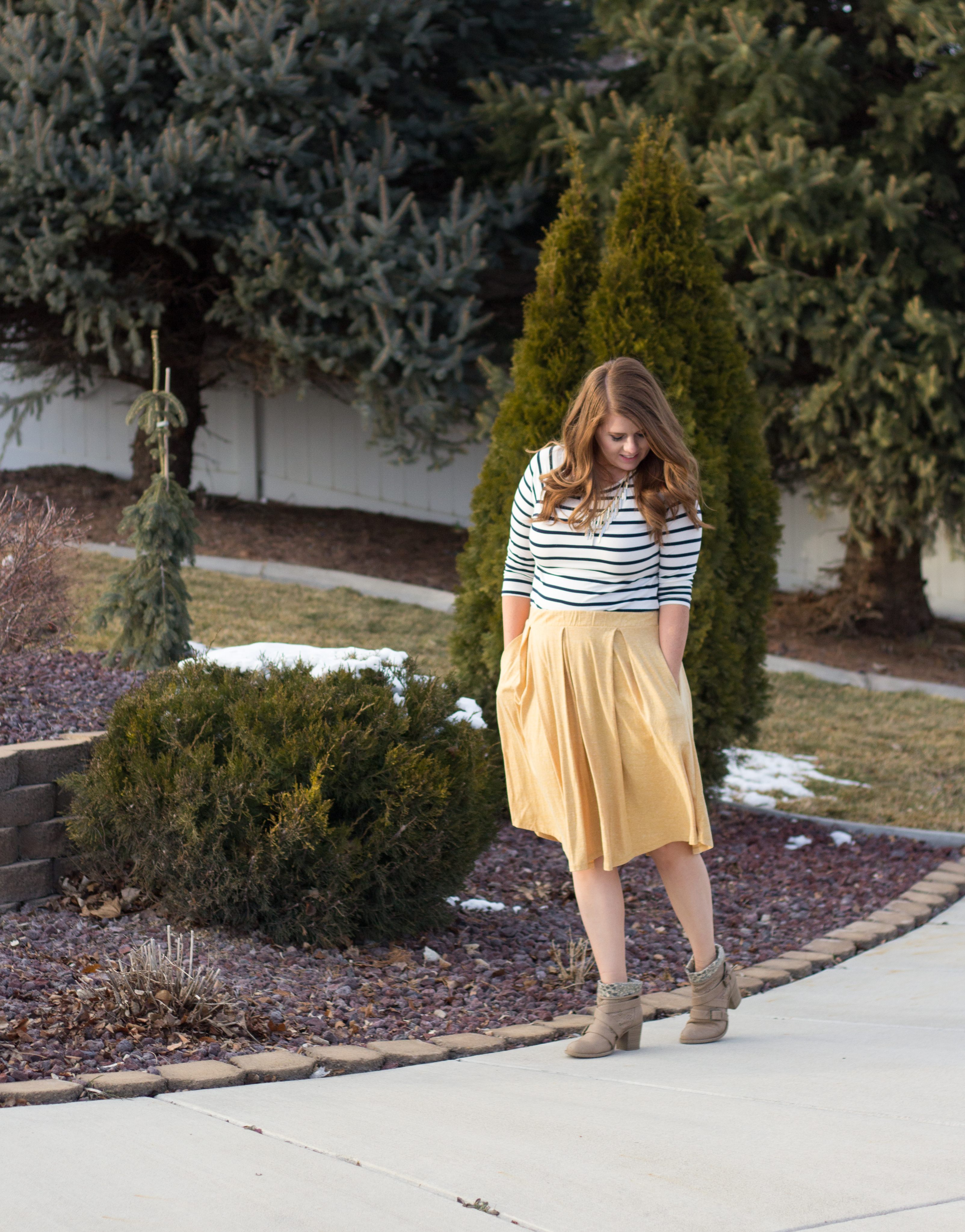 Mustard and Stripes graphic