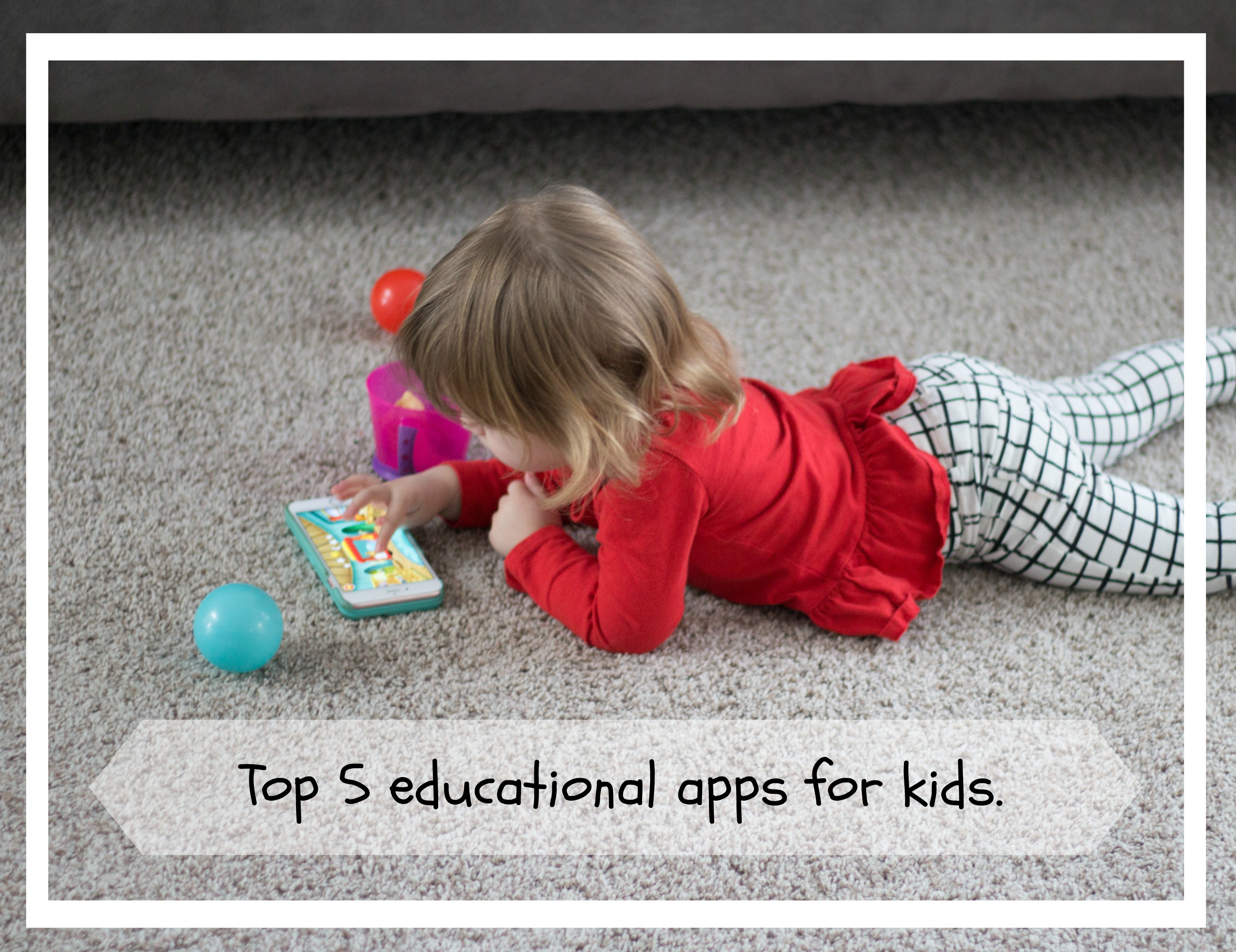 Our top 5 Favorite Educational Apps. graphic