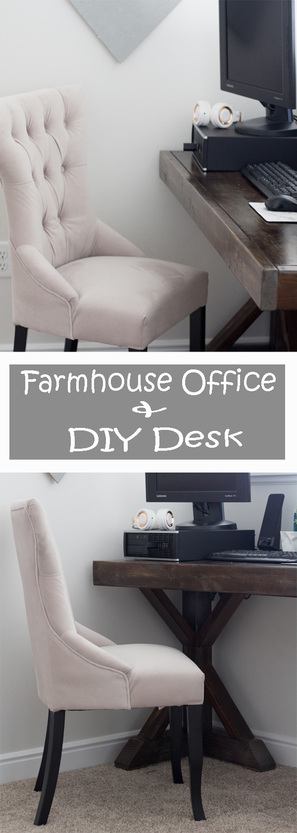 Farmhouse Office and DIY Desk