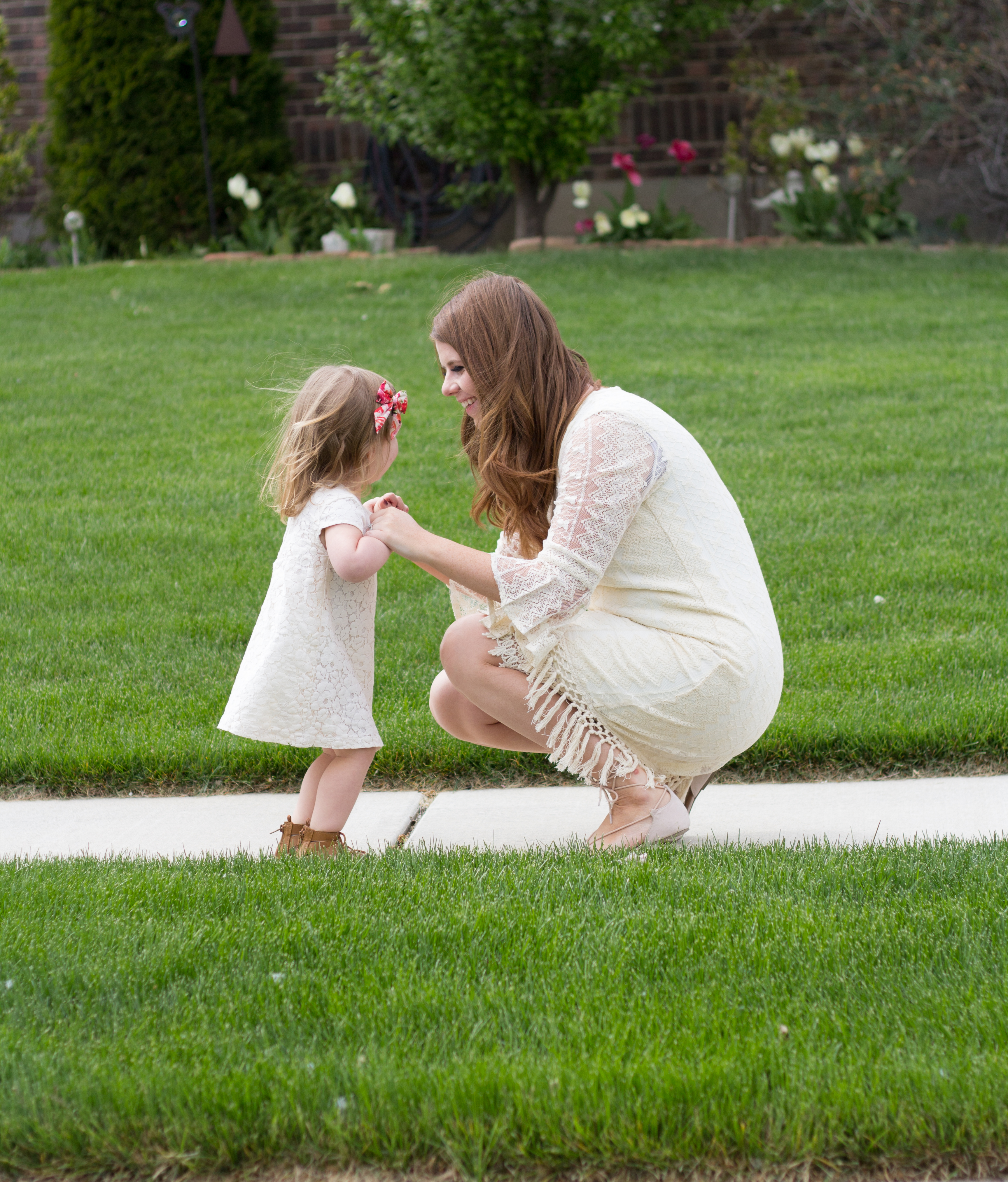 Mommy and Me Cream Dress