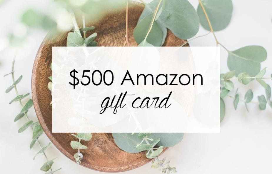 $500 Amazon Giveaway!