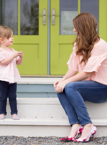 Blush Tops a Mommy & Me set.