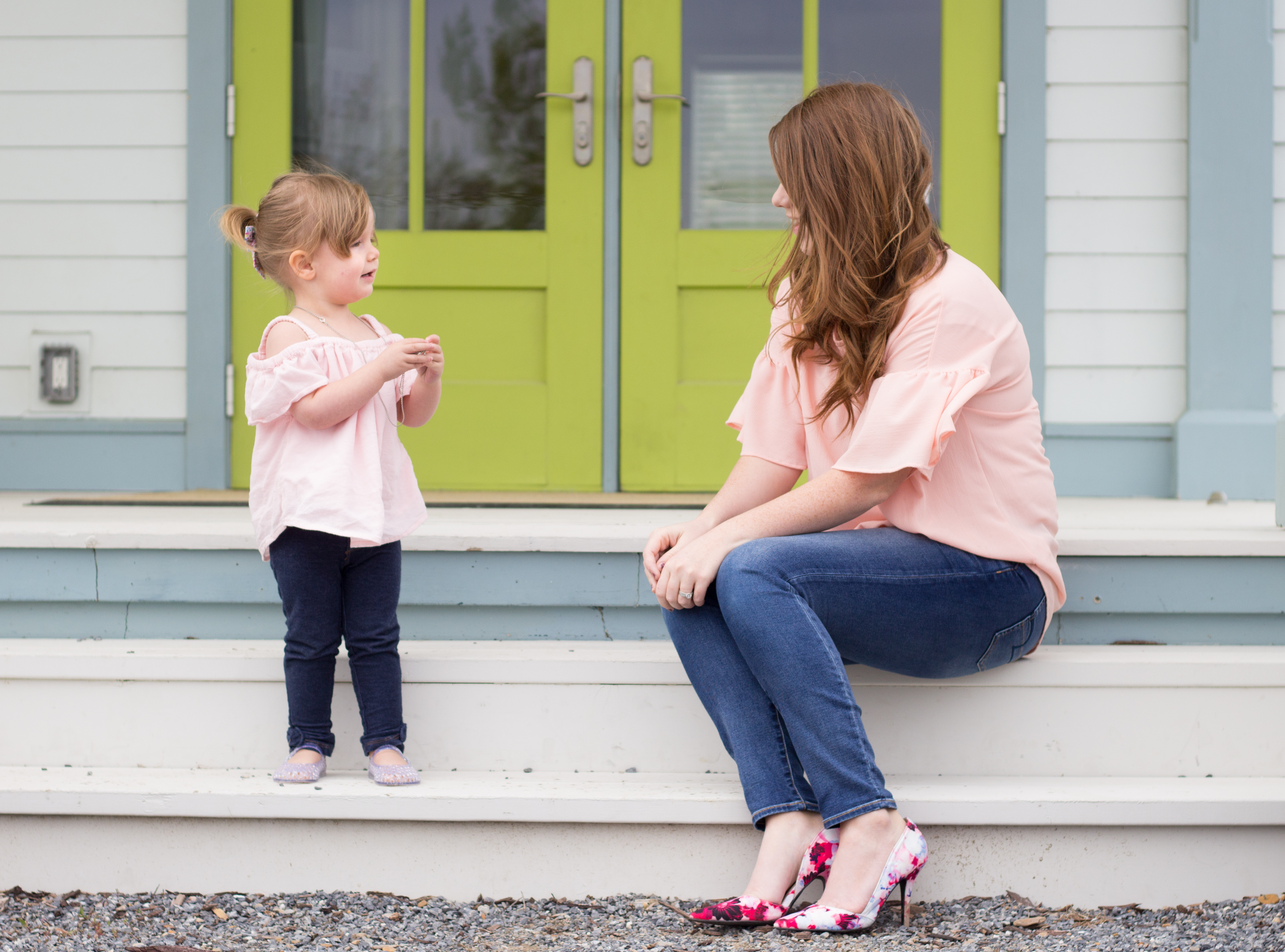Blush Tops a Mommy & Me set. graphic
