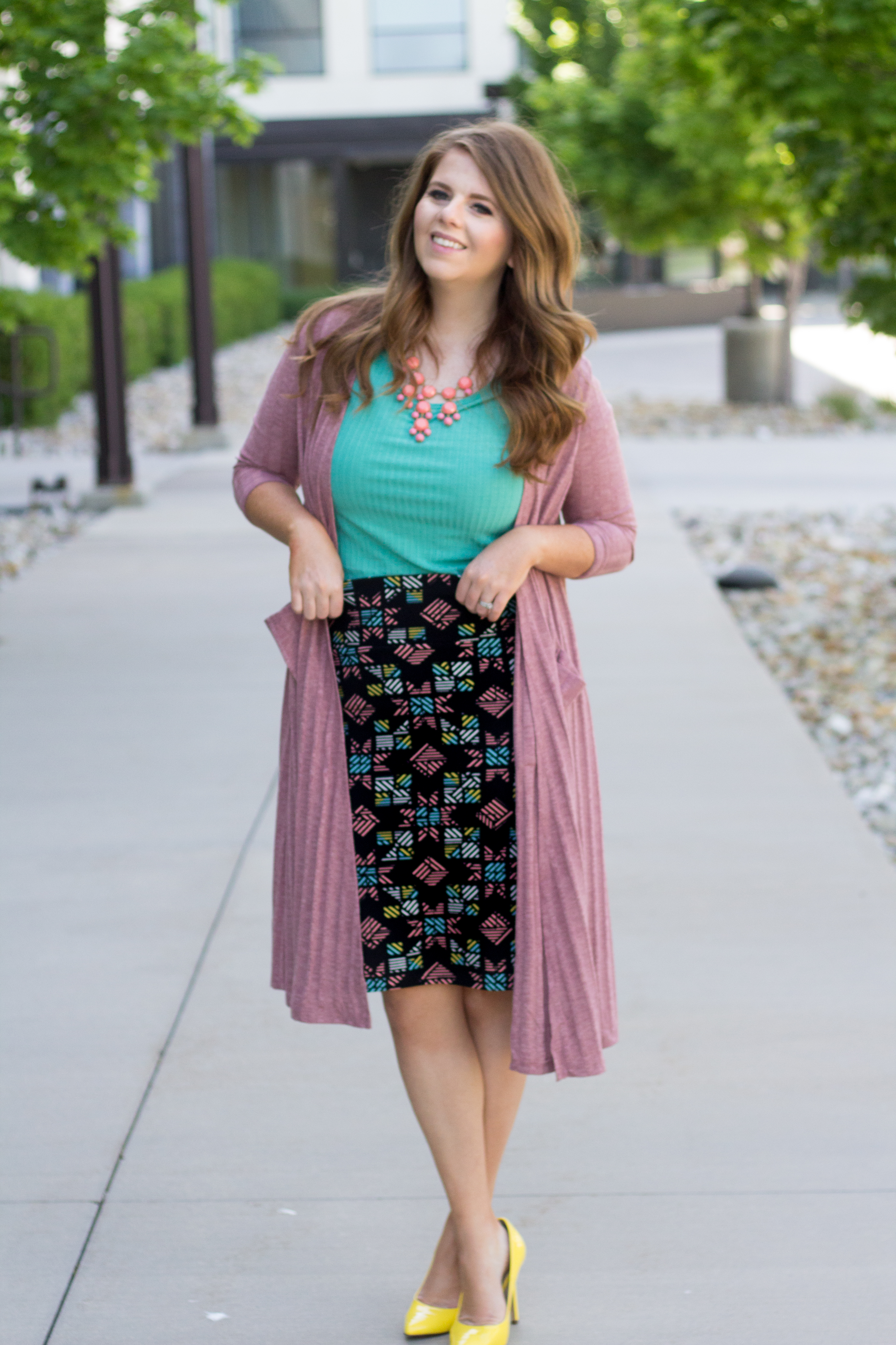 Lularoe Outfit ( Lularoe Cassie, Classic Tee, and Sarah)