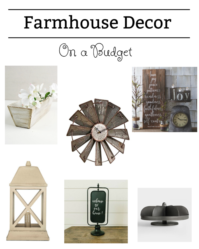 Farmhouse Decor On a Budget.