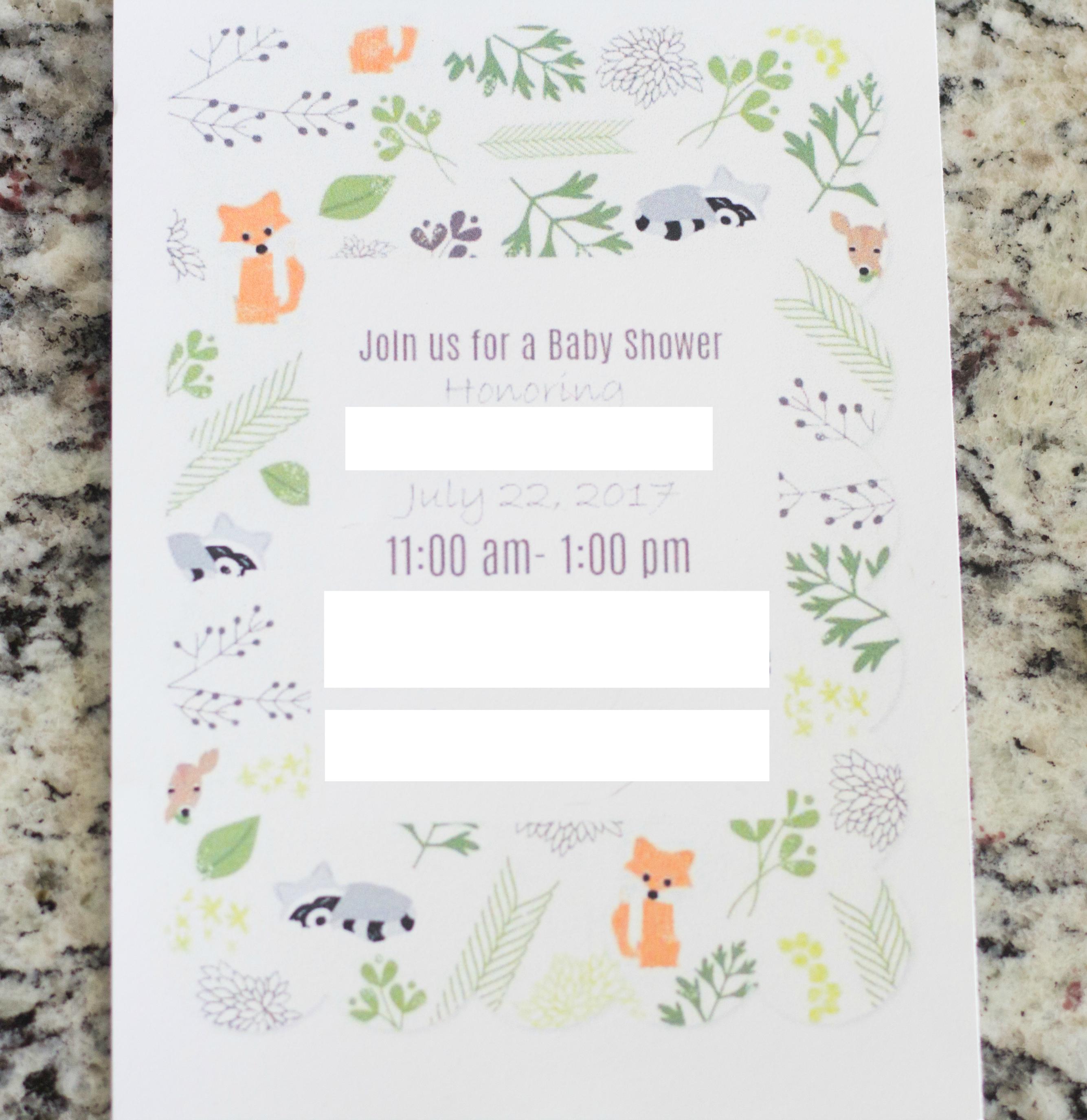 Woodland Invites