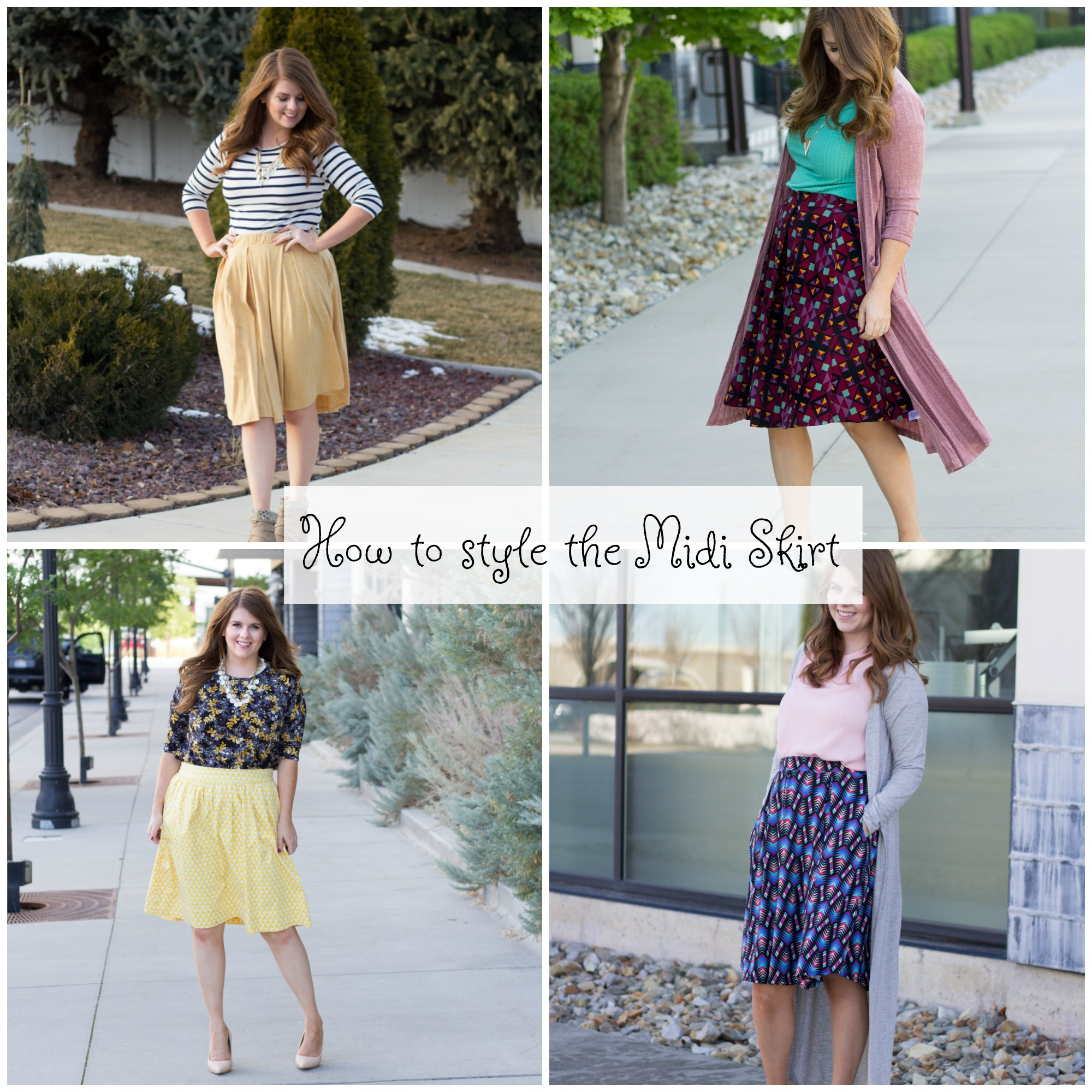 How to Style a Midi Skirt graphic