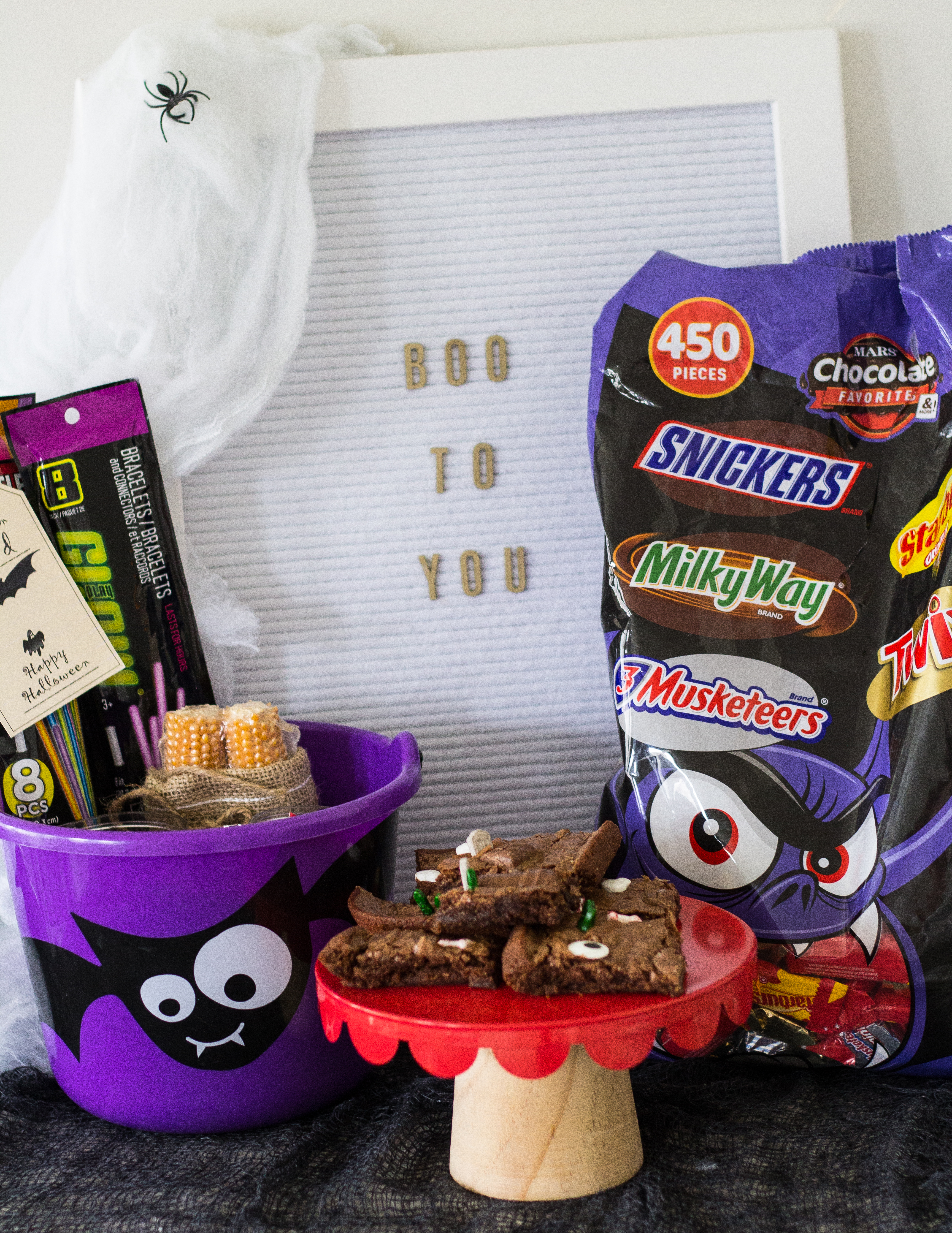 DIY Haunted Brownies+BOO in bulk BOO Kits graphic