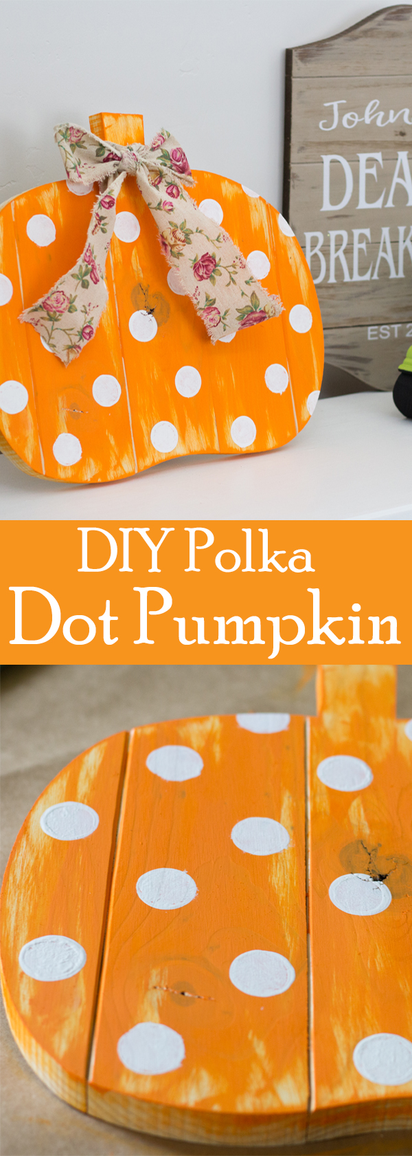 Fall DIY Polka Dot Pumpkin