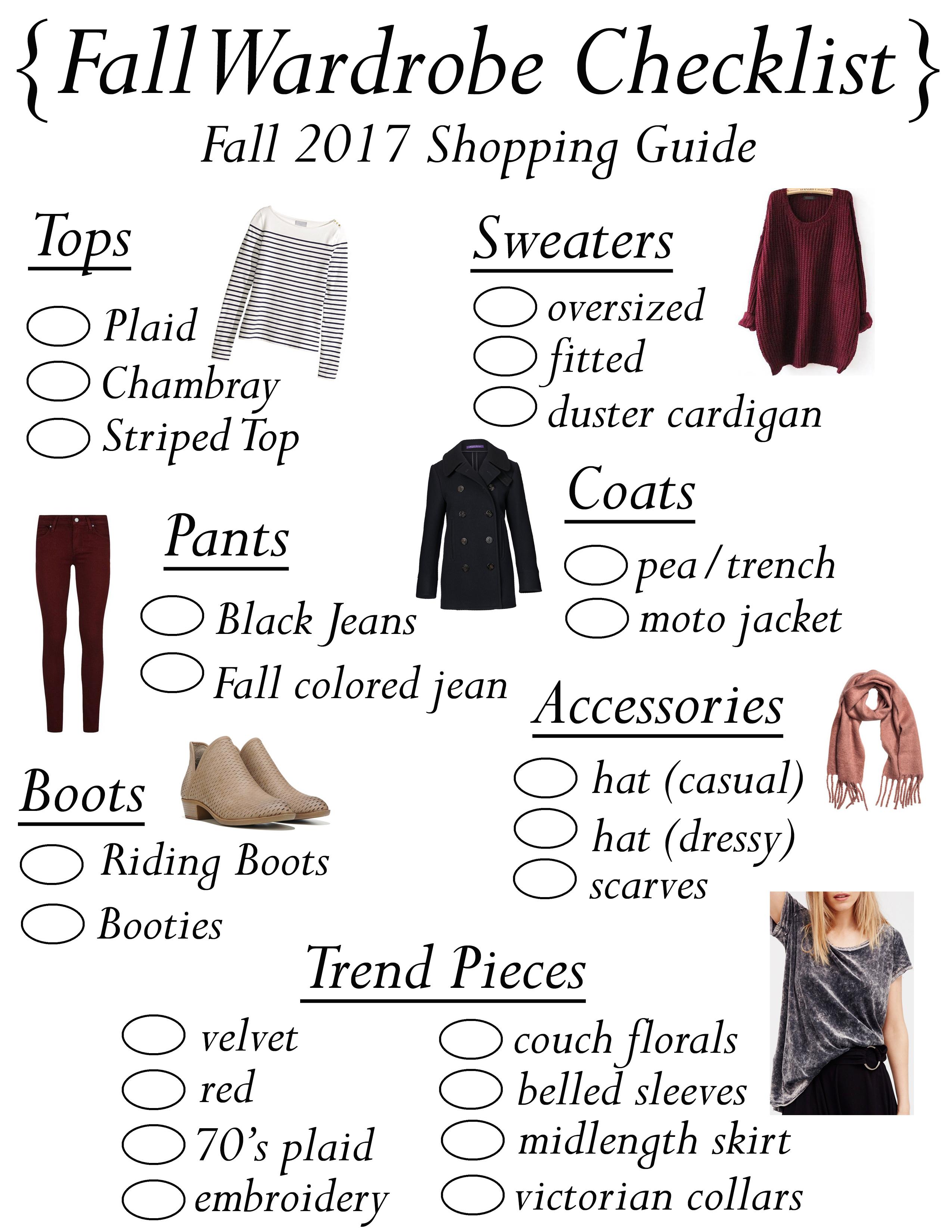 Fall Wardrobe Checklist
