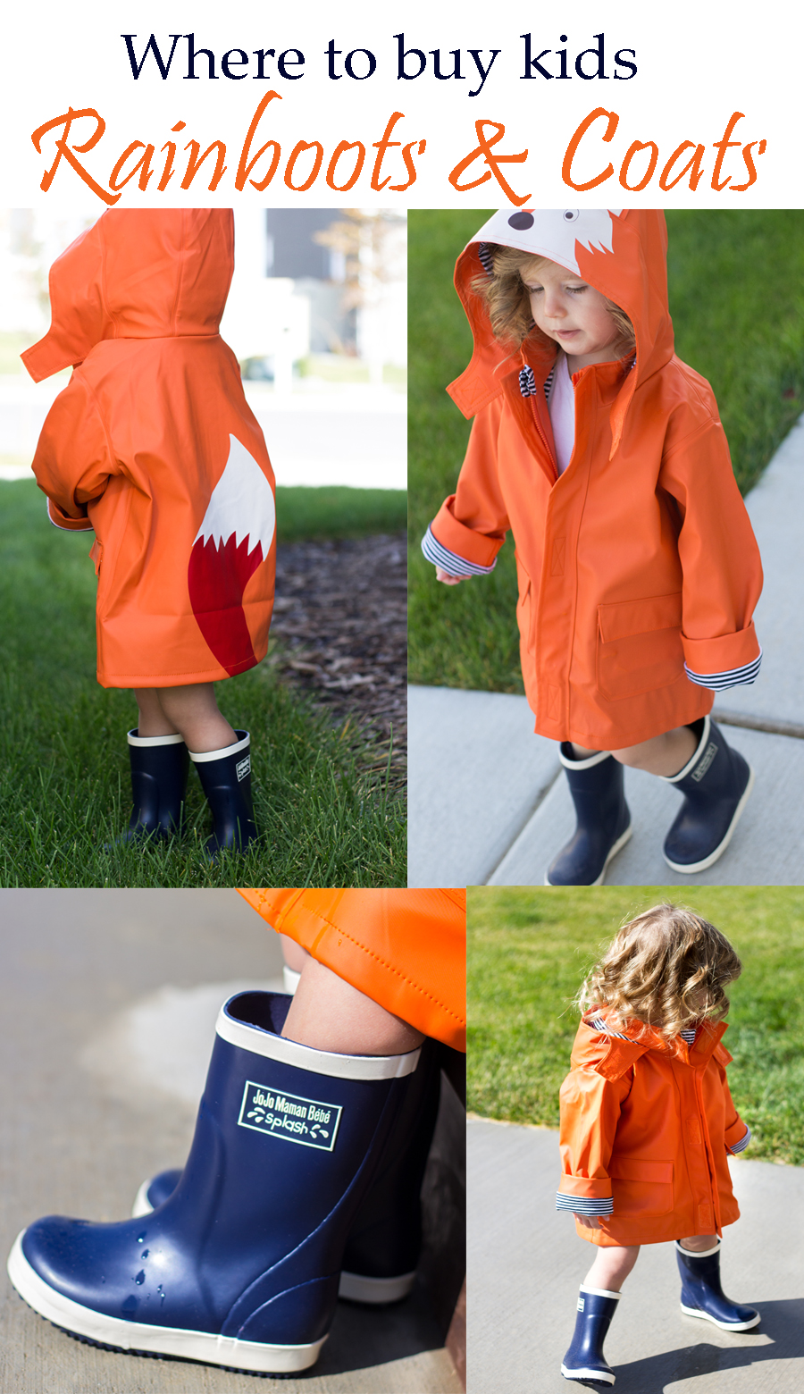 toddler rainboots and raincoats