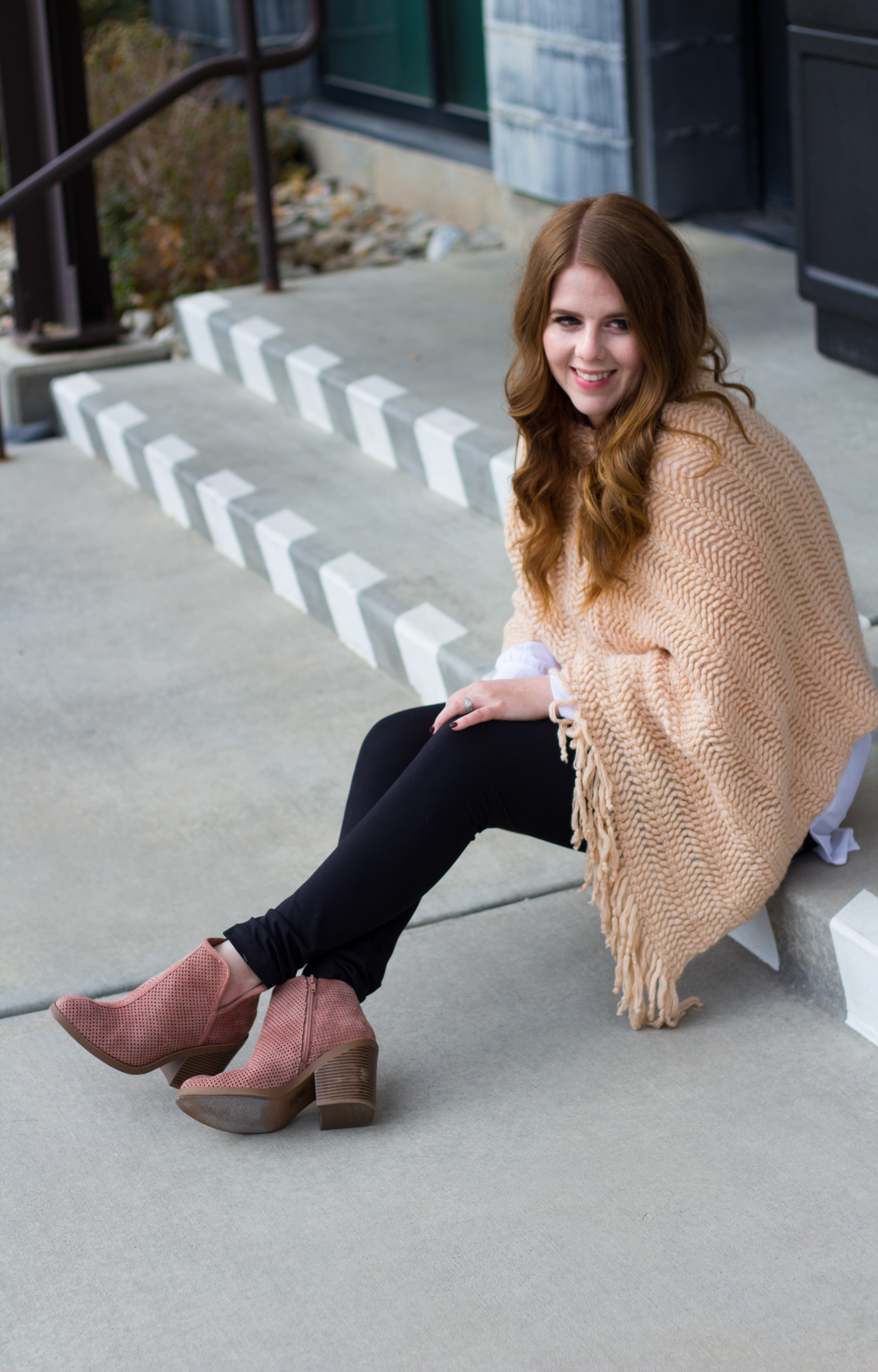 Mauve Boots: How to incorporate color into your fall wardrobe. graphic