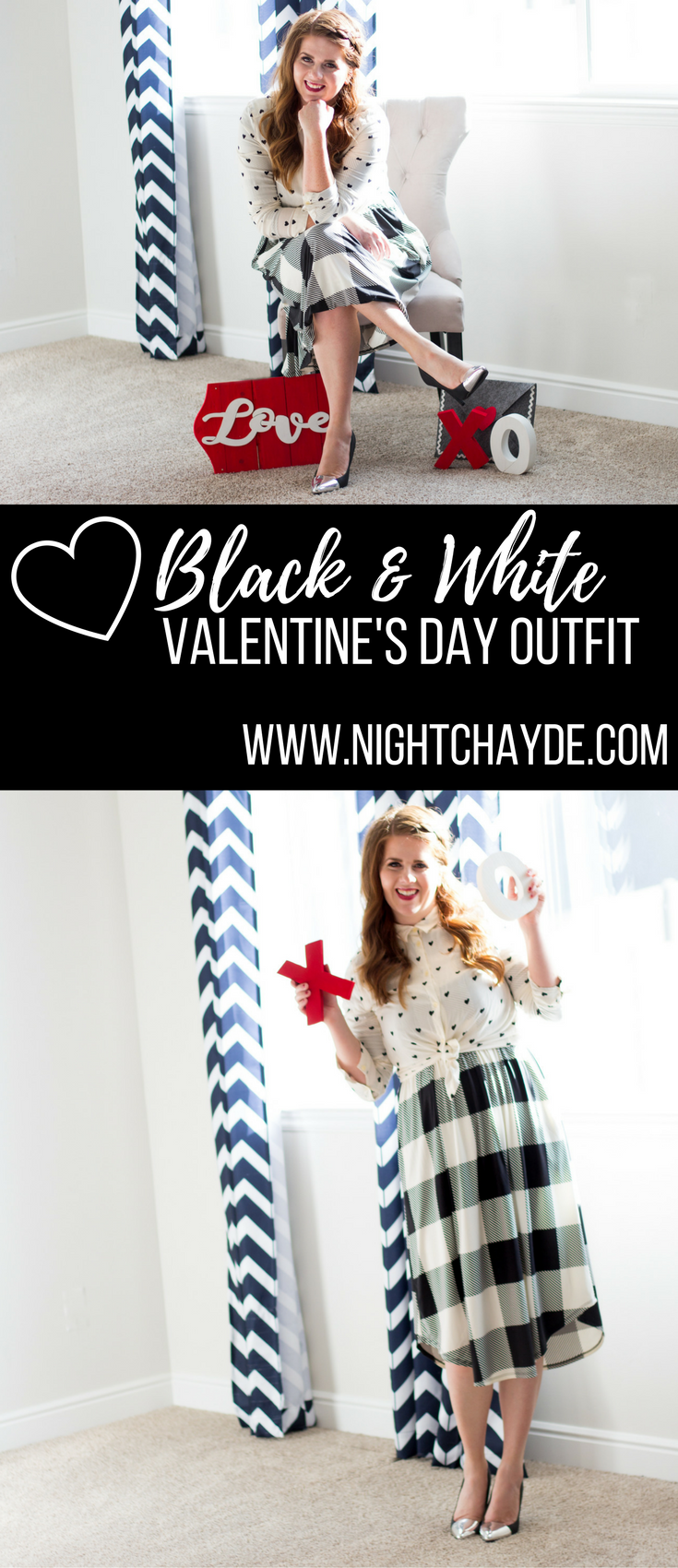 Black and White Valentines Day Outfit