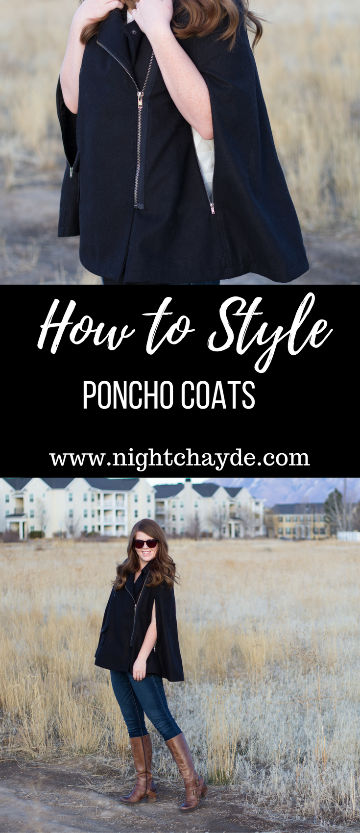 How to Style Poncho Coats